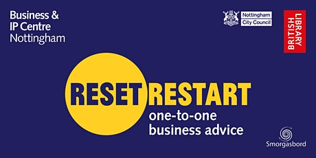 Reset. Restart: One-to-One Business Advice `Sessions tickets