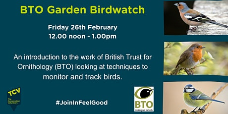 BTO Garden Birdwatch tickets