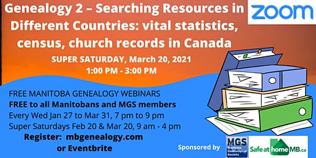 #15 - Beginning Genealogy 2 - Searching Resources in Different Countries tickets