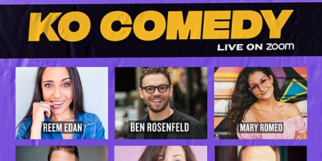 KO Comedy Live on Zoom: Sunday, February 28th, 2021 tickets