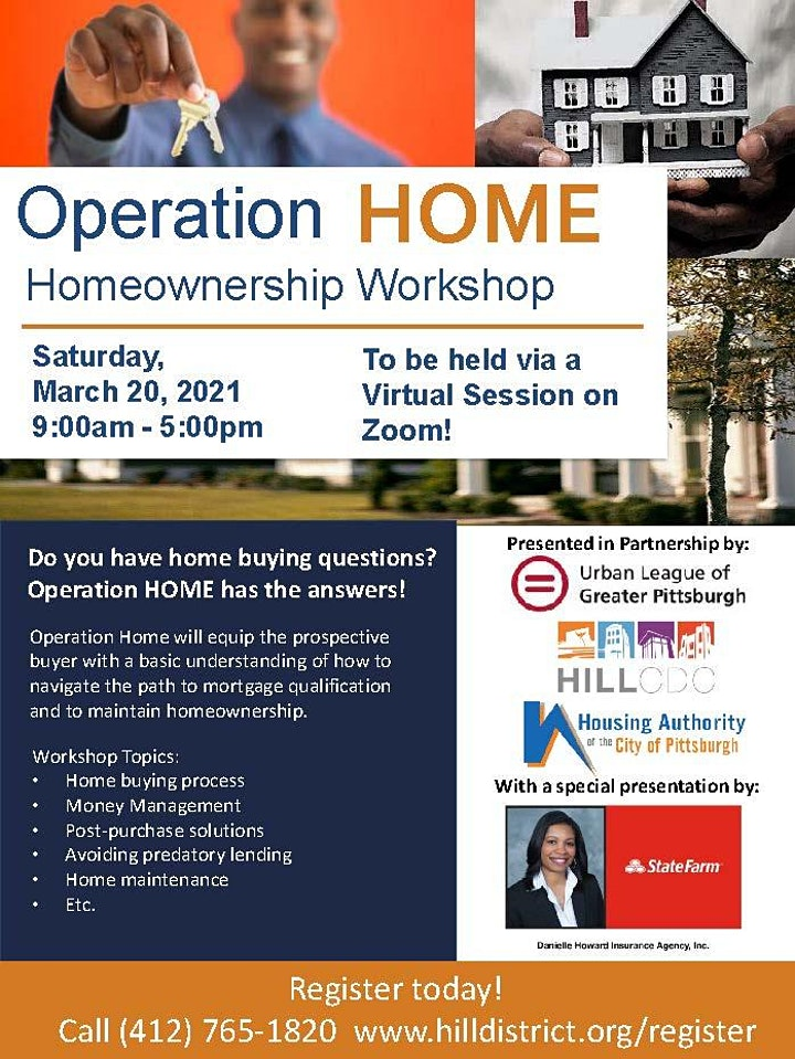 Operation Homeownership Workshop - March 2021 with Special Guest State Farm image