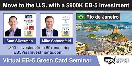 U.S. Green Card Virtual Seminar – Rio de Janeiro, Brazil ingressos