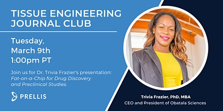"""""""Fat-on-a-Chip for Drug Discovery and Preclinical Studies"""" with Dr. Frazier tickets"""