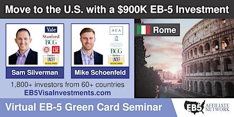 U.S. Green Card Virtual Seminar – Rome, Italy tickets