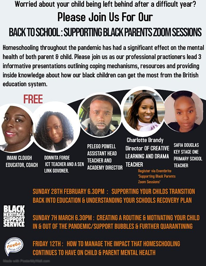 Supporting Black Parents Zoom Sessions image