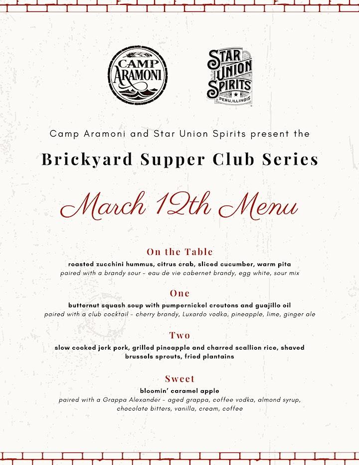 Brickyard Supper Club Series - March 12, 2021 image