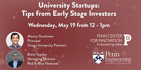 University Startups: Tips from Early Stage Investors tickets
