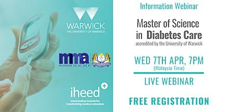 MSc Diabetes: University of Warwick - Info Webinar - MYS Apr 2021 tickets