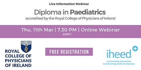 Diploma in Paediatrics - RCPI - Info Webinar - Mar 2021 tickets