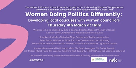 Women doing politics differently - Local Caucus with Women Councillors tickets