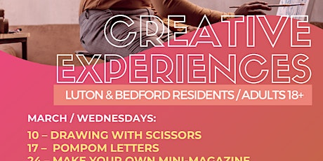 Creative Experiences Drawing with Scissors Luton & Bedford tickets