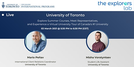 """Explore Your Potential"" University of Toronto tickets"