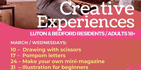 Creative Experiences Illustration for Beginners Luton & Bedford tickets