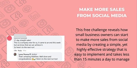 Learn How To Make More Sales From Social Media in 5 Days tickets