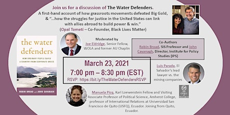 The Water Defenders - An SIS-OR Book Event tickets