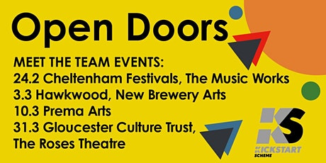 Open Doors - kickstart your arts career with Gloucester Culture Trust tickets