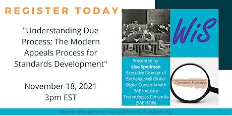 The Modern Appeals Process for Standards Development tickets