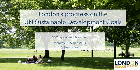 London's progress towards meeting the UN's Sustainable Development Goals tickets