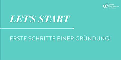 LET'S START- Erste Schritte einer Gründung! Tickets
