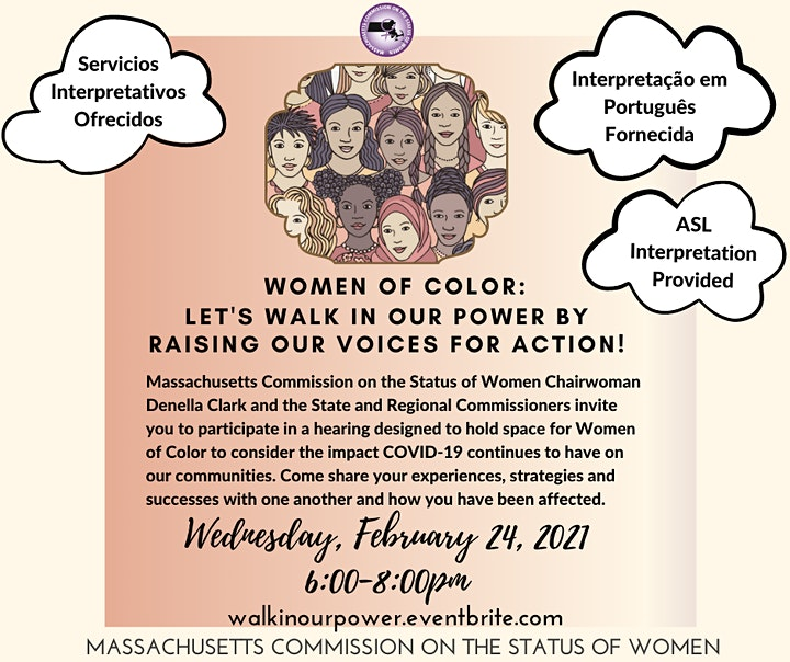 Women of Color: Let's walk in our power by raising our voices for action! image