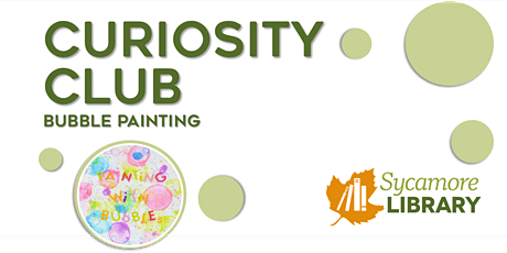 Curiosity Club: Bubble Painting tickets
