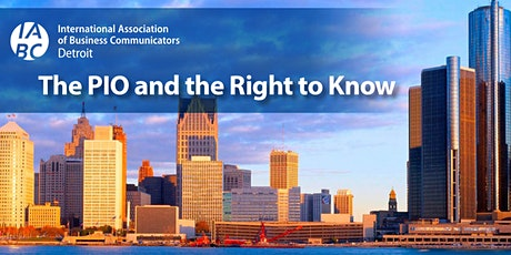 The PIO and the Right to Know – Detroit's Crisis Communications Summit tickets