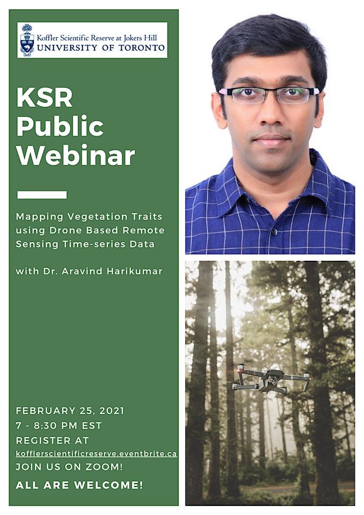 KSR Public Webinar:  Drone Based Remote Sensing in the Environment image
