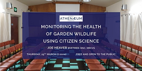 Monitoring the health of garden wildlife using citizen science tickets