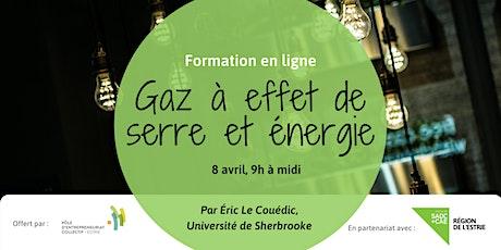 Formation // Gaz à  effet de serre et énergie billets