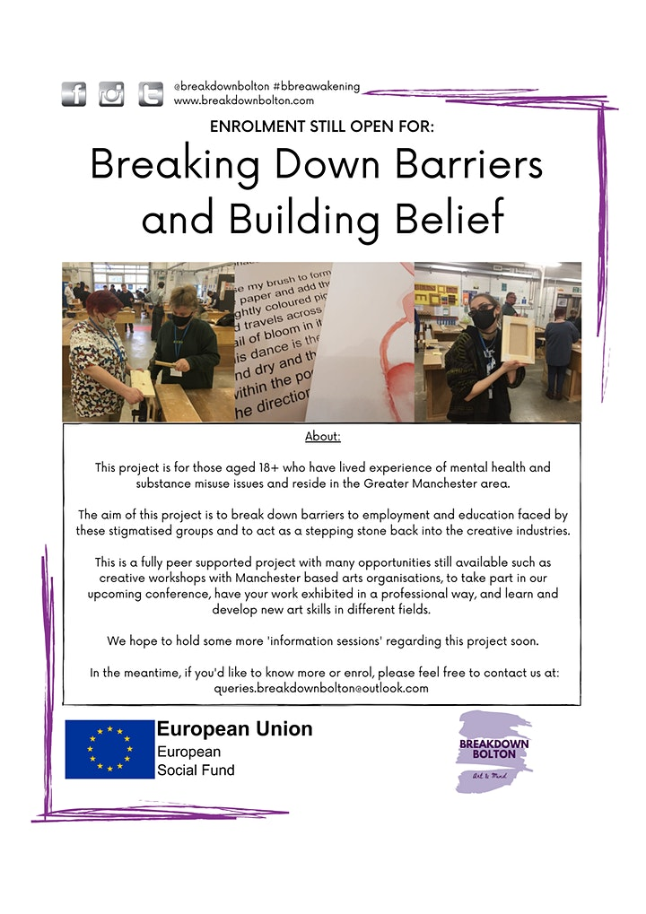 Virtual Creative Opportunities Info - Breaking Down Barriers project image