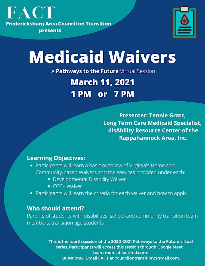 """Understanding Medicaid Waivers: a""""Pathways to the Future"""" Virtual Session image"""
