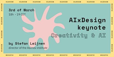AIxDesign Keynote: Creativity & AI with Stefan Leijnen tickets