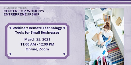 Webinar: Remote Technology Tools for Small Businesses tickets