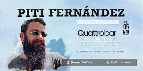 Piti Fernandez - Quattro Bar entradas