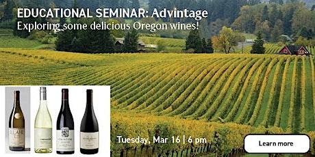 Educational Seminar: Oregon Wines with Advintage tickets