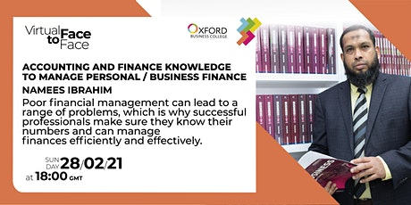 Accounting and Finance Knowledge to Manage Personal / Business Finance tickets