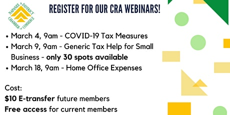 CRA Webinars: COVID-19 Tax Measures tickets