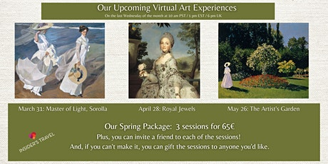 Spring Package: 3 pack of Virtual Art Experiences tickets