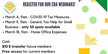 CRA Webinars: Generic Tax Help for Small Businesses tickets