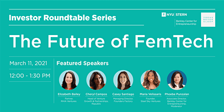 Investor Roundtable Series: The Future of Femtech tickets