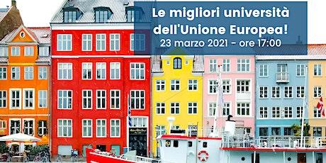 Le migliori università dell'Unione Europea! biglietti