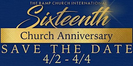 The Ramp Church International's 16th Church Anniversary tickets