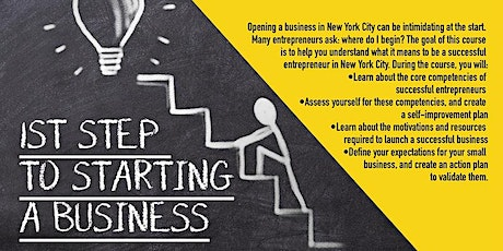 Webinar  First Steps To Starting A Business, Upper Manhattan, 3/12/2021 tickets