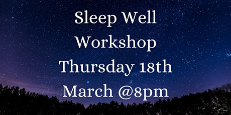 Neals Yard Remedies Organic Sleep Well  Workshop tickets