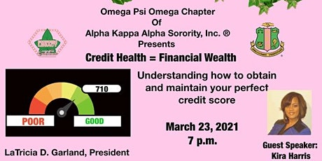 Omega Psi Omega Presents: Credit Health Equals Financial Wealth tickets