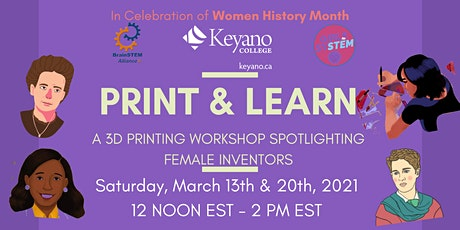 PRINT & LEARN: A 3D PRINTING WORKSHOP SPOTLIGHTING FEMALE INVENTORS biglietti