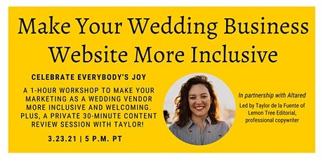 Make Your Wedding Business Website More Inclusive tickets