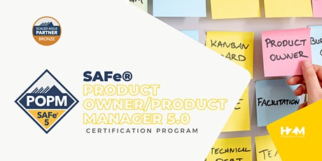 SAFe® Product Owner/Product Manager (POPM) boletos