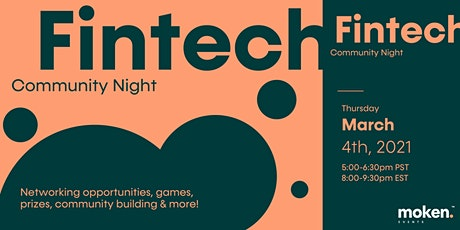 Fintech Community Night With Moken tickets