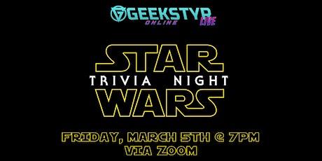 GeekStyr's Virtual Star Wars Trivia! tickets